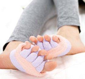 眠れる森の5本指ふわもこソックス 足指タイプ