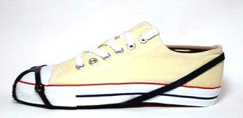 スニーカーの装着例です、サイズは26cmです。